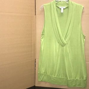 Lime green sleeveless shirt L